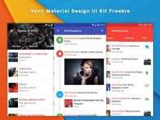 Vonn : Free Material Design UI Kit - Free Download | Freebiesjedi