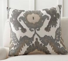 Hudson Ikat Pillow Cover | Pottery Barn