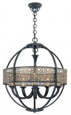 Eurofase Lighting 19368 5 Light Arsenal Chandelier from the Classics Collection - Traditional - Chandeliers - by Buildcom