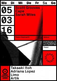 25 YEARS TRESOR —MARCH 16Visual communication for Berlin techno c... - Vanja Golubovic