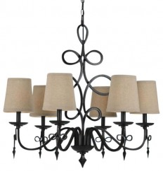 AF Lighting Rhythm Transitional Chandelier X-H6-0068 - Chandeliers - by Cathy Hobbs Design Recipes