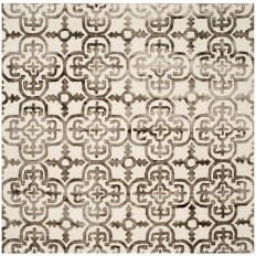 Safavieh Dip Dye Ivory/Brown 7 ft. x 7 ft. Square Area Rug-DDY711F-7SQ - The Home Depot