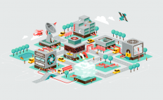 Isometric worlds on