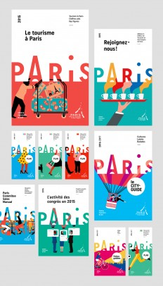 Brand New: New Logo and Identity for Paris Convention and Visitors Bureau by Graphéine