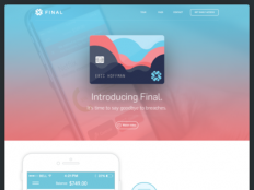 Final Card Landing Page by Eric Hoffman - Dribbble