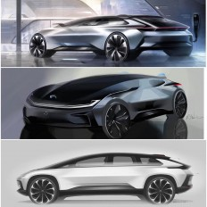 "Joshua Henson on Instagram: ""FF?Forever changing the landscape of automotive design / See more at www.ff.com @faradayfuture #FF #faradayfuture #FF91 #FirstOfTheSpecies…"""