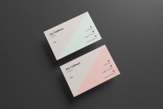 Modern Stylish Business Card Mockup - Free Design Resources
