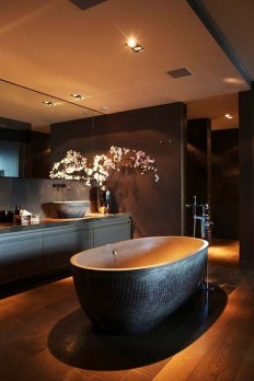 32 Dark Moody Bathroom Designs That Impress - DigsDigs