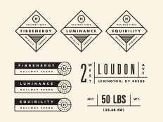 Hallway Feeds Labels by Steve Wolf