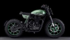 Custom Built Royal Enfield Classic 500 Green Fly Unveiled In Spain - NDTV CarAndBike