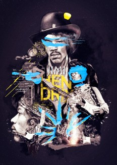 Jimi Hendrix - Poster on