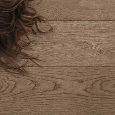 Engineered parquet flooring / oak / brushed / smoothed - SMILE: FUMO - GAZZOTTI spa