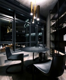 Trendy Dark Bachelor Apartment by YoDezeen - InteriorZine