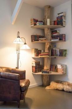 Tree Bookshelf in the Corner on Inspirationde