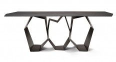 Sculptural Table with Dynamic Styling by Ronda Design - InteriorZine