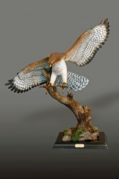 RED-TAILED HAWK Sculpture by Barry Stein on Inspirationde