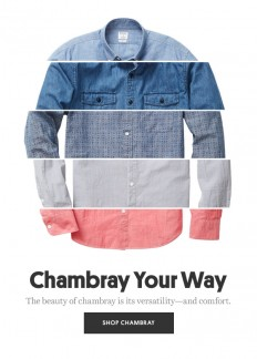 Bonobos: Ruggedly handsome? That's chambray on Inspirationde