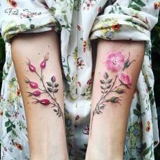 #watercolor #tattoo #flower in Tattoos