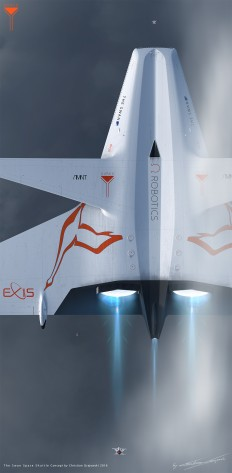 The Swan Space Shuttle concept on