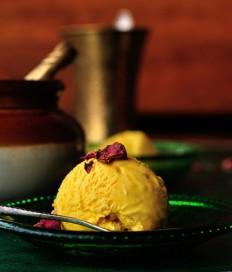 Turmeric Ice Cream With Black Pepper