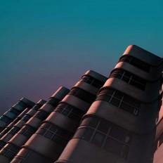 Cyan: Random Architectural Fragments by Øystein Aspelund