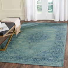 Safavieh Vintage Turquoise/Multi 6 ft. 7 in. x 9 ft. 2 in. Area Rug - VTG112-2220-6 - The Home Depot