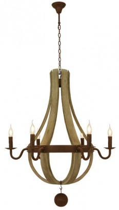 SALERNO 6L PENDANT - Traditional Pendants - Pendant Lights - Lighting Direct
