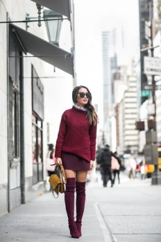Wendy Nguyen is a vision in head to toe plum,... - Street Style & Fashion Tips