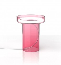 Table Lamp that Emphasizes the Circular Fluorescent Light - InteriorZine