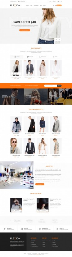Flexion – Fashion E-Commerce Store on Inspirationde