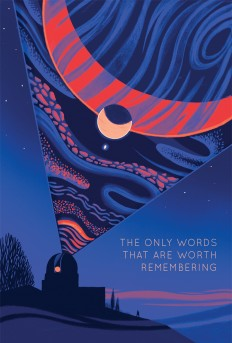 "Book Cover illustration for ""The Only Words That Are Worth Remembering"" on Inspirationde"