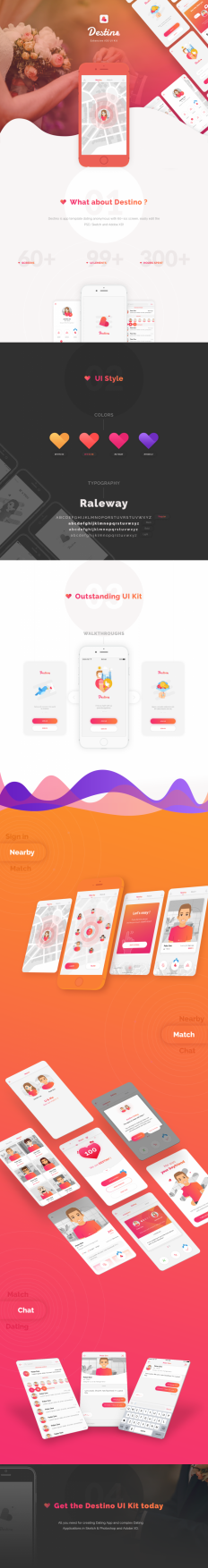 Destino Dating App UI KIT on Inspirationde
