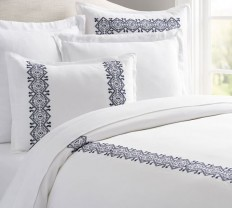 Cross Stitch Embroidered Duvet Cover & Sham | Pottery Barn
