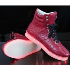 LED High Top Red Fish scales Sneaker- M.C.B. Shoes