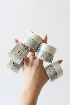 Diy Faux Ceramic Napkin Rings on Inspirationde