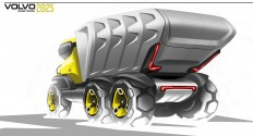 Volvo future truck on