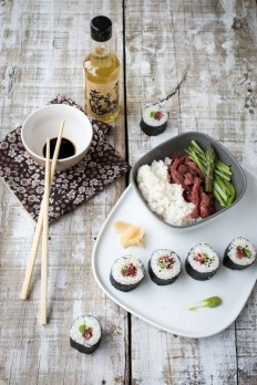 Makis Beef & Asparagus | The Culinary Refinery