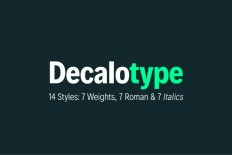 Decalotype Free Typeface - Free Download | Freebiesjedi
