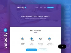 Velocity 6 - Free Landing Page PSD template - Free Download | Freebiesjedi