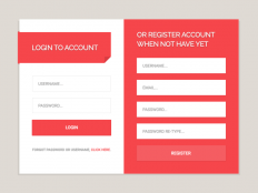 Login & Register Form UI PSD - Free Download | Freebiesjedi