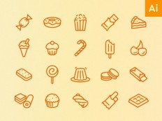Free Minimal Food Icon Set - Free Download | Freebiesjedi