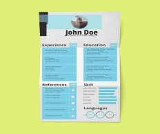 Stylish Resume Template with Cover Letter - Free Download   Freebiesjedi