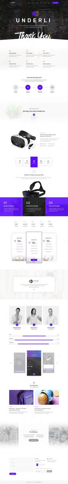 App Landing Page & Product Showcase on Inspirationde