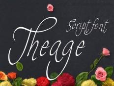 Theage Script Font - Free Download   Freebiesjedi