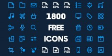 1800 Free Minimal Icon Pack - ByPeople