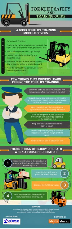 A Guide Related to Forklift Safety and Training - Infographic | Adams Safety