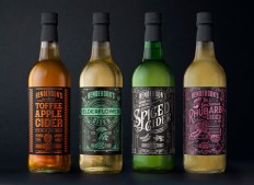 The Spectacular Packaging of Henderson's Spectacular Rhubarb Cider — The Dieline - Branding & Packaging Design
