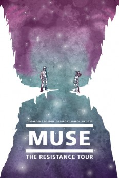 Muse Concert Poster on Inspirationde