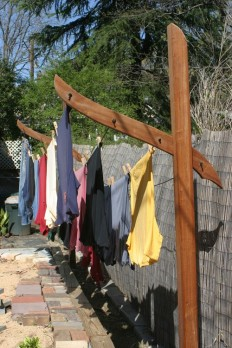 Clothes Line Posts = Garden Sculpture - Liberated Gardener