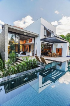 Contemporary Pool Residence With Amazing Interiors by Metroquadrado on Inspirationde